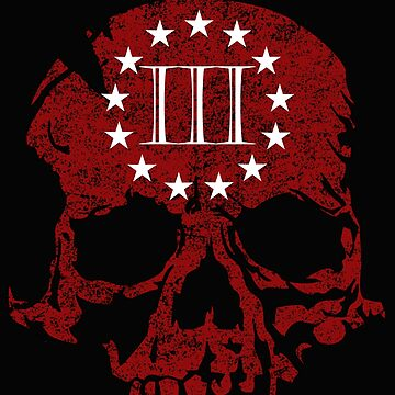 Three Percent Skull Red  by Patriot76