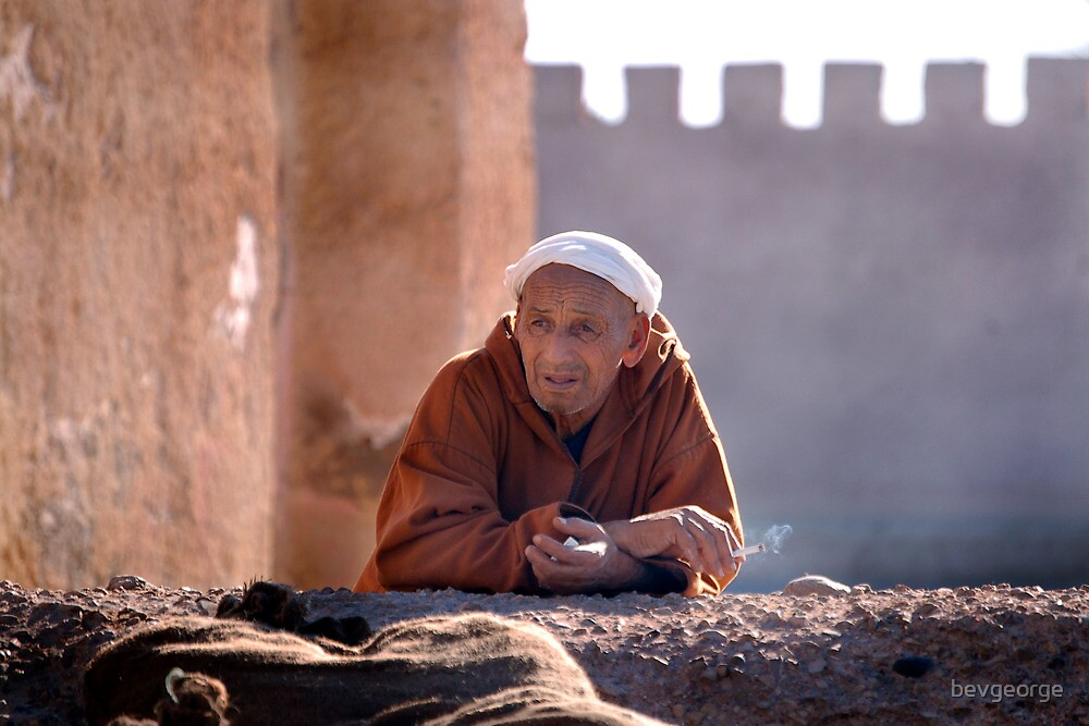 Old man in Essaouira by bevgeorge