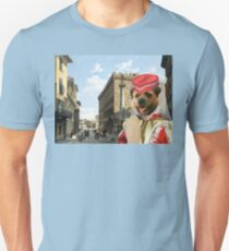 Border Terrier Art - Piazza Santa Trinita Firenze T-Shirt
