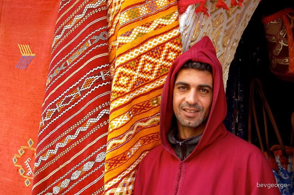 Moroccan shopkeeper by bevgeorge