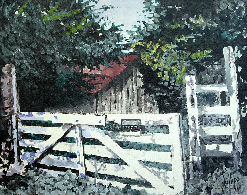 Old Abandoned Stable by Jim Phillips