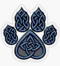 Celtic Knot Pawprint - Blue Transparent Sticker