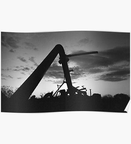 Dawn at the metal dump Poster