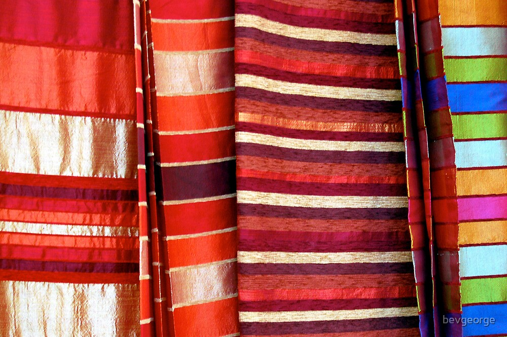 Fabric for Sale, Souk, Essaouira by bevgeorge