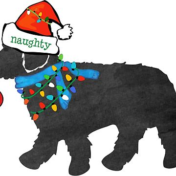 Naughty but Nice Christmas Labradoodle by emrdesigns