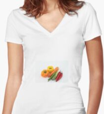 Vegetables Women's Fitted V-Neck T-Shirt