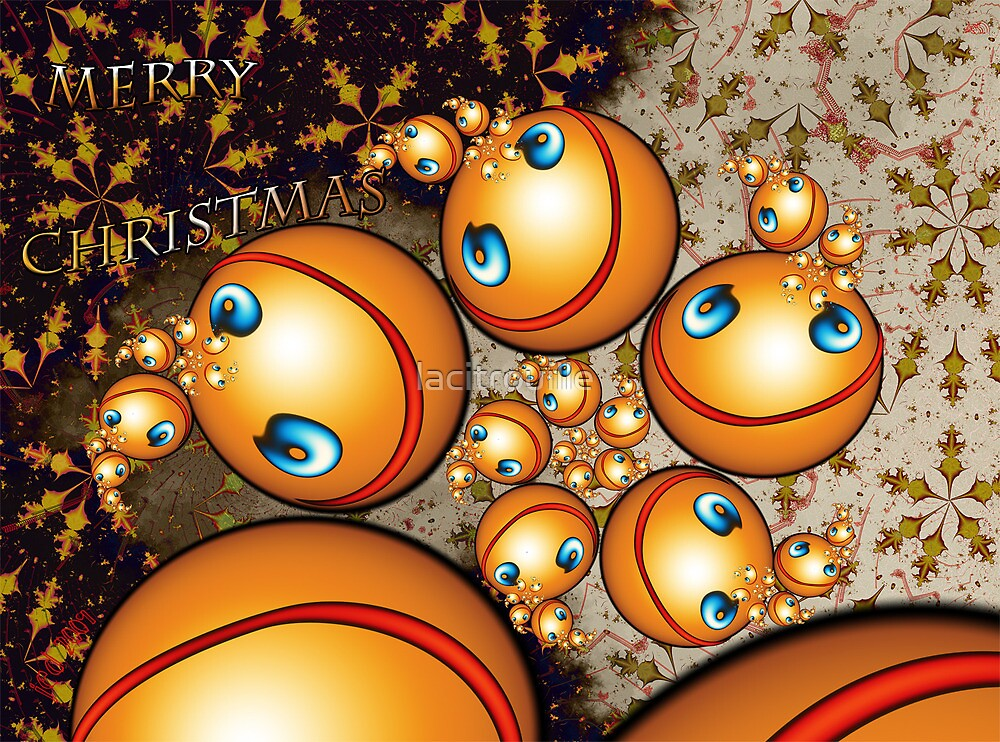 Chrismas Card 2009-2010 No. 2 Smileys Love the Holidays by lacitrouille