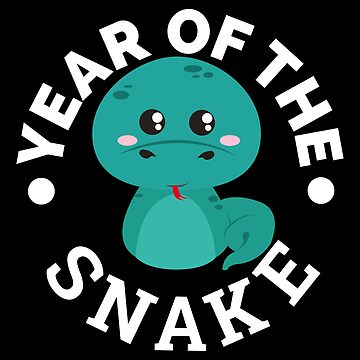 Chinese Zodiac Year of the Snake Cute - Gift Idea by vicoli-shirts