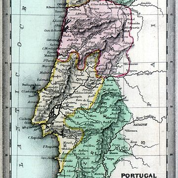 1835 Map of Portugal by historicimage