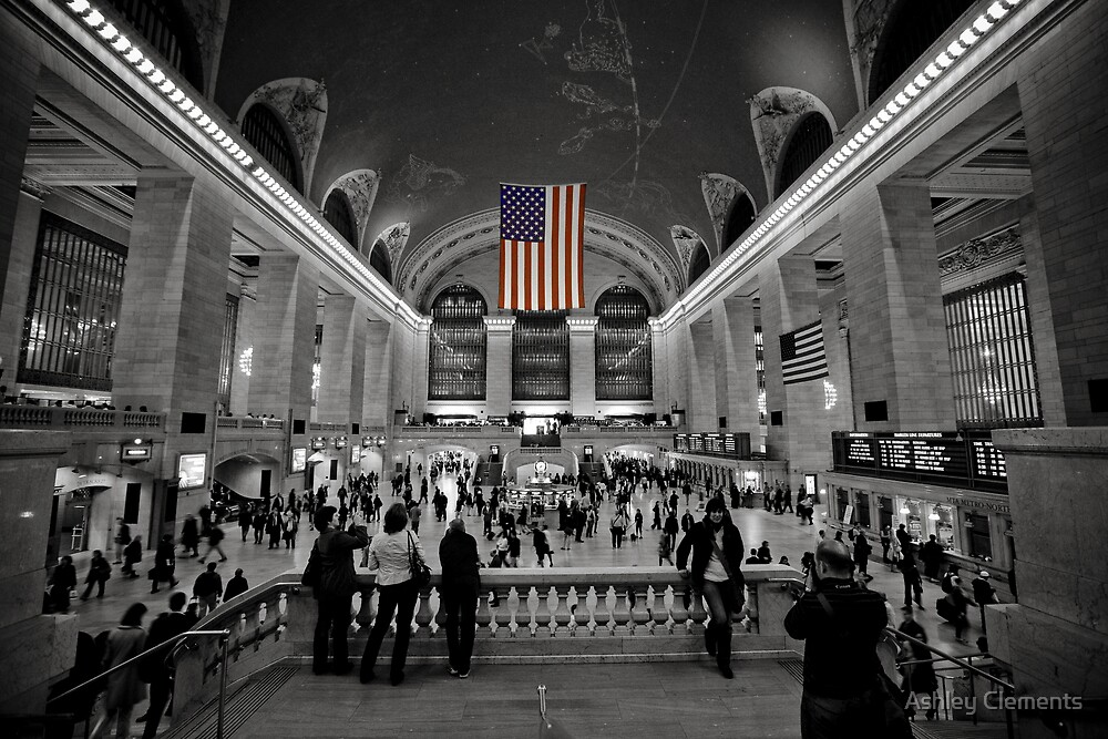 Stars and Stripes at Rush Hour by Ashley Clements
