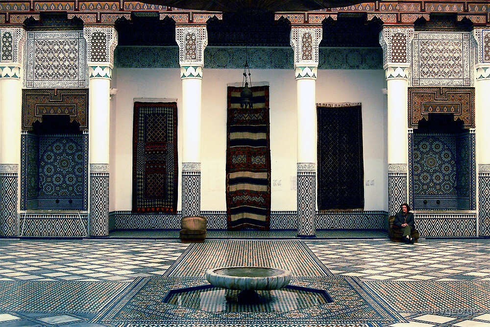 Palace Interior, Marrakesh by bevgeorge