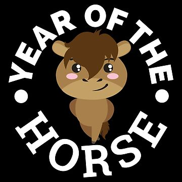Chinese Zodiac - Year of the Horse Cute - Gift Idea by vicoli-shirts