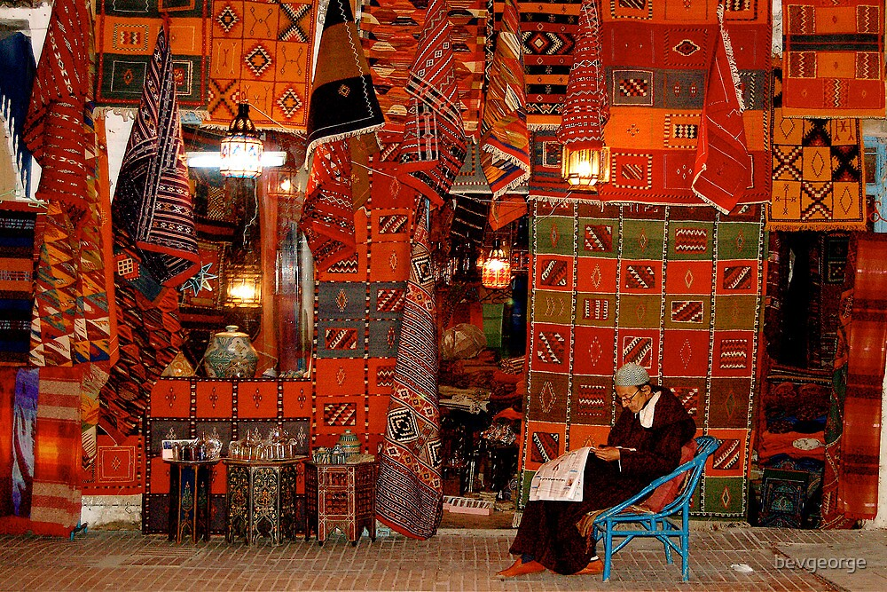 Night Time in the Souk, Essaouira by bevgeorge