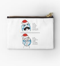 Christmas Card Free Alcool Memes le me in awe funny greeting cards for people who hate Christmas and the Holiday Season Studio Pouch