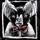 Vampire Bat In A Bow Tie by superstarling