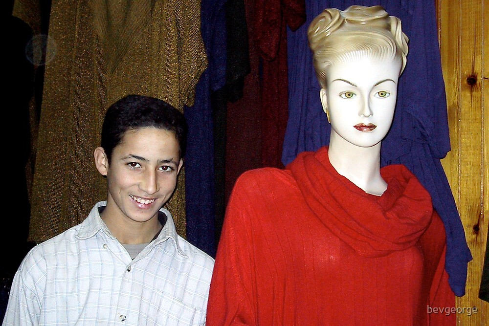 Moroccan Boy with Mannequin by bevgeorge