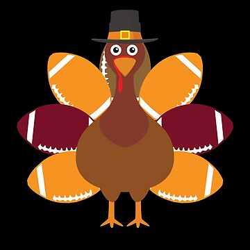 Turkey Pilgrim and Football Thanksgiving Day by BUBLTEES