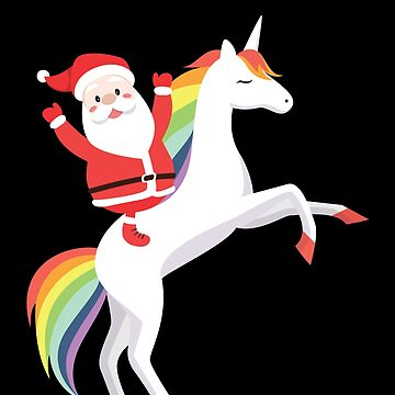 Santa Claus Unicorn Christmas For Holiday Gift by BUBLTEES