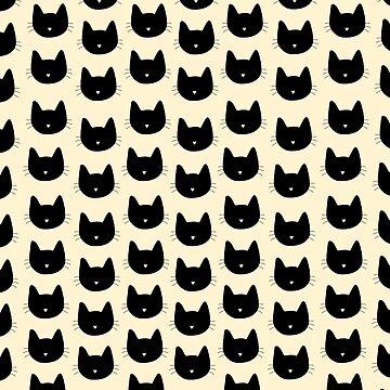 Lindo patrón de gato - melocotón de DanaAndTheBooks