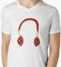 headphones Men's V-Neck T-Shirt