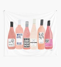Rose Bottles Wall Tapestry