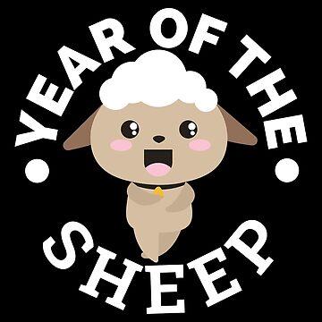 Chinese Zodiac Year of the Sheep - Gift Idea by vicoli-shirts
