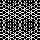 Black and White Hexagon Pattern by livejoytoday
