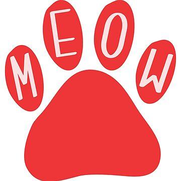 Cat Paw Meow Red de DanaAndTheBooks