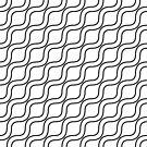Modern Black & White Wave Pattern by livejoytoday
