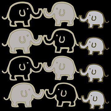 Elephant Herd by CarolM