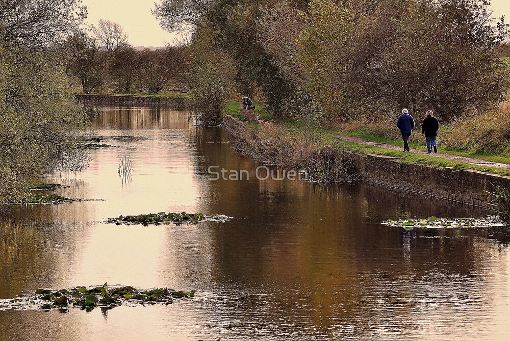 Crowded Towpath by Stan Owen