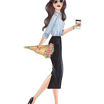 girl boss flowers and coffee  by reyniramirezfi