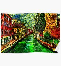 Venice Canals Fine Art Print Poster