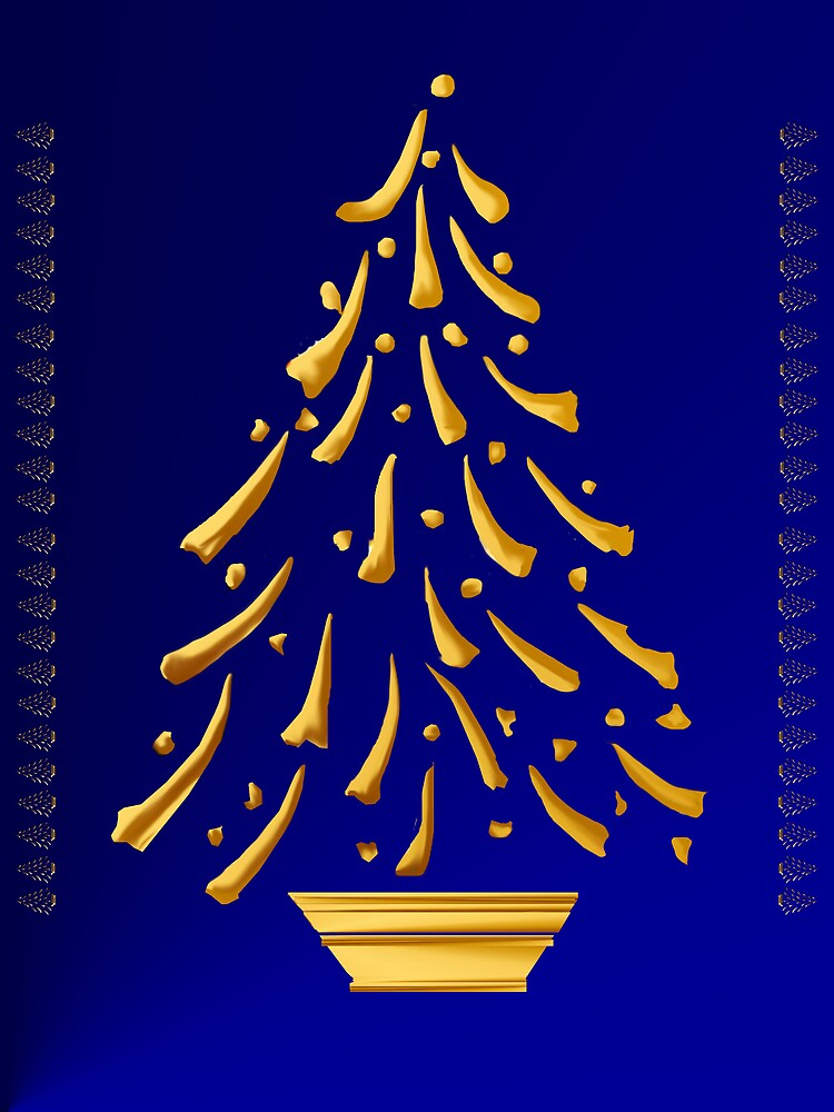 Gold Christmas Tree by Lotacats