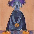 Halloween Weimaraner by jfrier