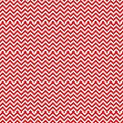 Red White Stripes Christmas Candy Cane Zig Zag Elf by TheKitch