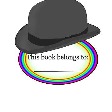 Bowler Hat Bookplate (Rainbow) by masqueblanc
