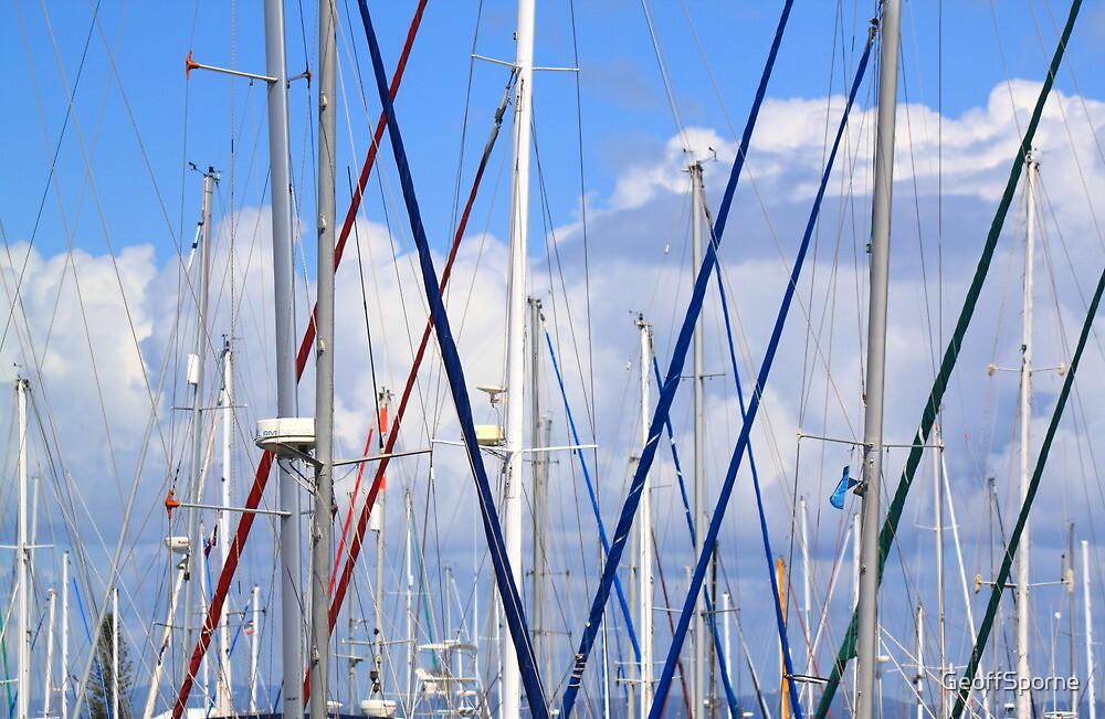 Masts - Shorncliffe Marina by GeoffSporne