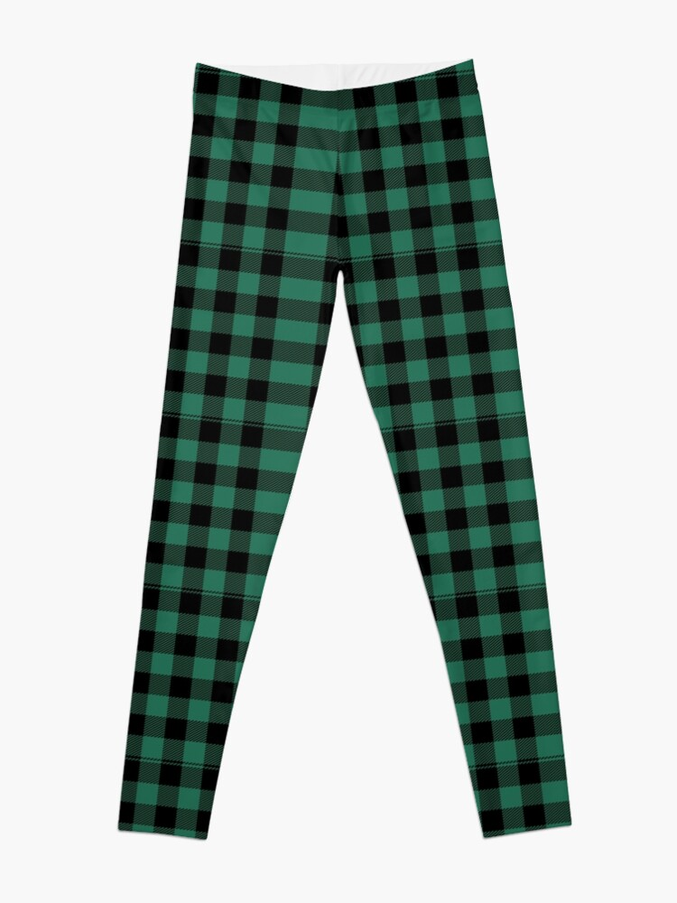 Tartan Plaid - Green Black Scottish Clan | Leggings