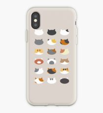 Row of Cats - Neko Atsume iPhone Case