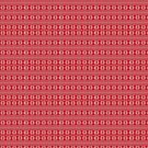Cheerful  Red and White Christmas Snowflake Poinsettia Stripe Pattern by TheKitch