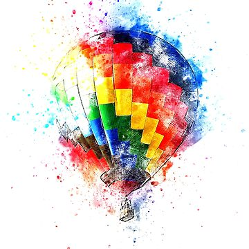 Balloon - Watercolor Explosion by mkkessel
