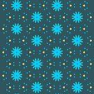 Aqua Multiflower Design by Betty Mackey