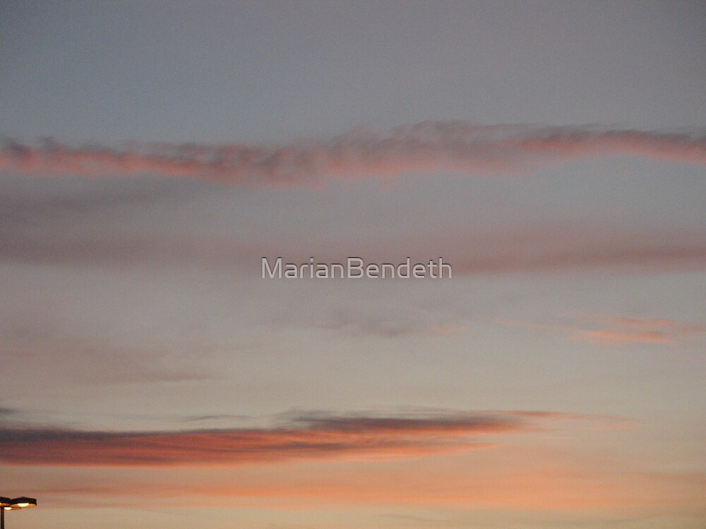 Salmon Mousse Skies by MarianBendeth