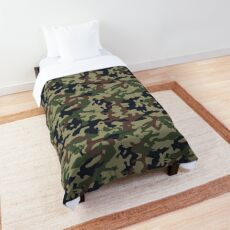 Awesome Camouflage Pattern Woodland Comforter