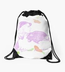 springtime in paris Drawstring Bag
