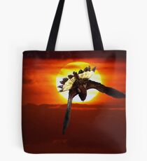 """""""Bottoms Up""""-Yellow Tailed Black Cockatoo"""" Tote Bag"""