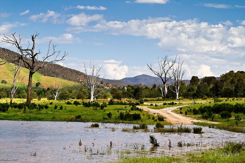 River crossing, Lake Eildon, Victoria by kraftyman