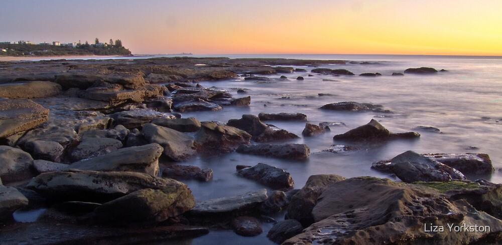 Kings beach rocks by Liza Yorkston