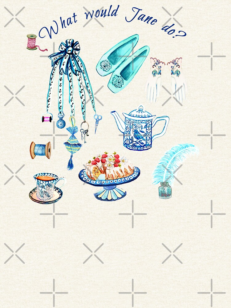 Jane Austen favourite things and daily objects in watercolor by MagentaRose